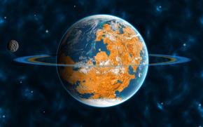 Anelli, Satellite, Universo, Orbit, pianeta