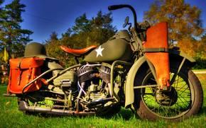 войны, военный, Мотоциклы, Второй, мотоцикл, мировой, времён, модель