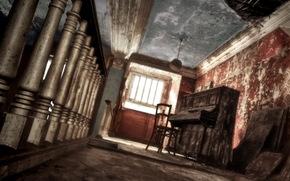 piano, Music, room