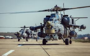 вертолёты, ударные, аэродром