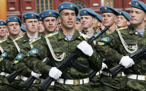 Russie, militaire, русские, honorer, arme, гордость, RF, воздушно-десантные войска, день ВДВ, soldats, элита, голубые береты, ВДВ, armée, десатники, автоматы, combattants