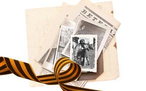 память, праздник, георгиевская ленточка, газета, ребенок, солдат, фото, ленточка, встреча, день победы