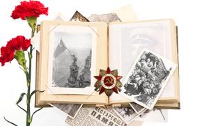 день победы, Newspaper, Clove, photo, орден, награда, альбом, память