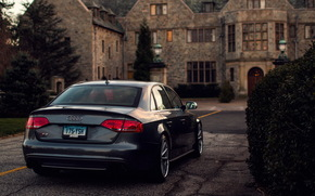 Audi, задок, дом