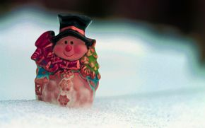 Statuette, snow, New Year, New Year, snowman