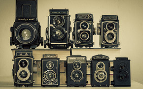 коллекция, фотоаппараты, модели, классика, Hi-Tech, ретро