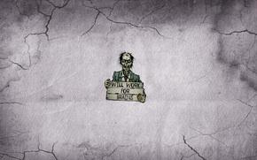 табличка, прикол, зомби, надпись