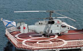 корабельный, вертолёт, палуба, многоцелевой