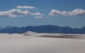 пейзаж, пустыня, человек