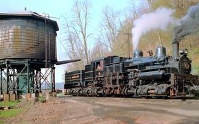 caseta de las bombas, fumar, Другая техника, ferrocarril, Recarga de agua, Virginia, vapor, locomotora, Maryland occidental