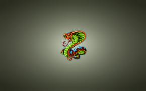 minimalism, cobra, snake