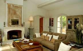 villa, interno, stile, progettazione, salone, soggiorno, domestico