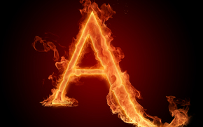 letter, wallpaper, letter, flame, fire