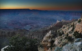 Grand Canyon, Mountains, Rocks, sunset, landscape