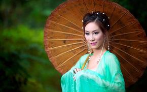 азиатка, стиль, девушка, взгляд