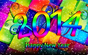 Happy New Year, 2014, wallpaper