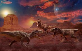 tirannosauro, rex, dinosauri, 3d, arte