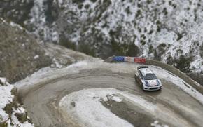 Поворот, Volkswagen, Ралли, Зима