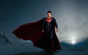 фильмы, человек из стали, генри кавилл, кларк кент, обои, супермэн