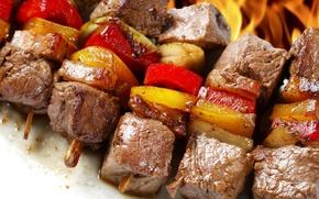 vegetables, food, shashlyk.myaso