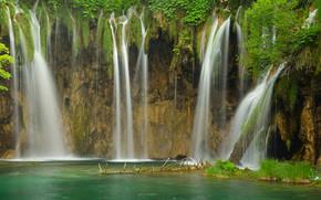 pond, cascata, natura