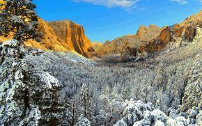 美国, 优胜美地, 加州, 冬天, 国家公园