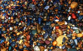 Ciottoli, mare, pietre, COLORE