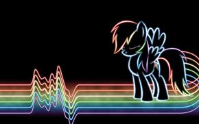 линии, радуга, дэш, рэйнбоу, неон