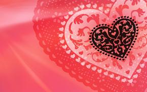 ажурное, День Св. Валентина, сердце, валентинка