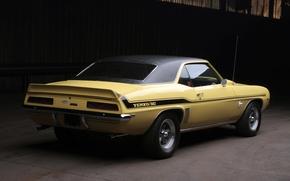 muscle car, vista posteriore, Camaro, sfondo, Chevrolet, Chevrolet