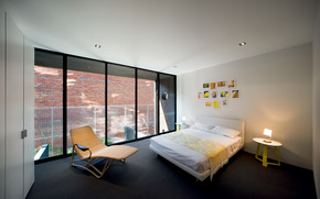 bed, window, pictures, chair, interior, BEDROOM