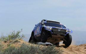 Volkswagen, Rally, blu, Rotella, Giorno, Frontale, SUV