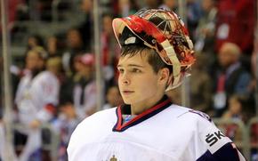 хоккей, сборная, парень, спорт, Россия, Игорь Шестёркин, вратарь, мужчина, молодёжная