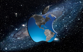 hi-tech, apple, gadget, phone, notebook, space, computer, land