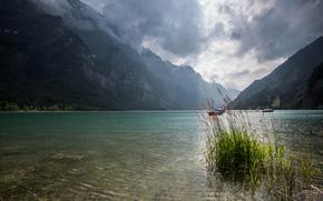 тучи, Швейцария, озеро, горы