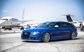 Самолеты, Ауди, Аэропорт, Audi, Диски, Синяя