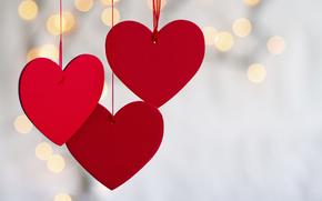 красный, сердце, боке