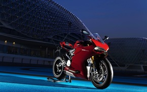 Ducatti, red, night, Moto
