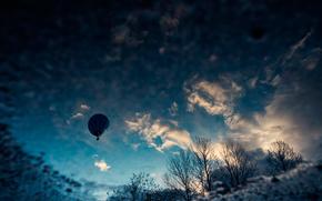 空, 雲, バルーン, ☁