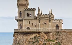 pastochkino, nido, castillo, restaurante, Rusia, Crimea, Península, Crimea