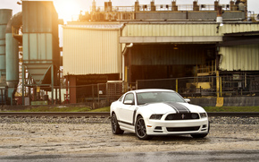 bianco, strisce di corsa, hotspot, ford, muscle car, ford, mustang