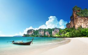 beach, sea, ocean, summer, Vacation, beach, sea, tropics, sand, shore