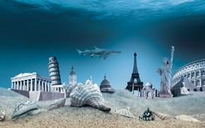 underwater, ocean, travel, world, seashells, sea, bottom, SEASHELLS