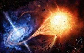 黑色, 孔, 阳光, 蓝色, 科幻
