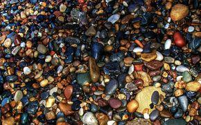 Pebbles, sea, stones, COLOR