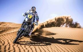 Мото, Спорт, День, Дюна, Мотоцикл, Мотоциклы, Скорость, Песок, Гонщик