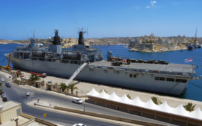 Royal Naval landing platform Dock (LPD) ship, HMS Albion, Malta