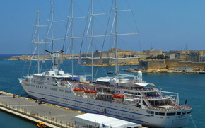 "Sailing cruise on the ship ""Club Med 2, Grand Harbor, Malta"