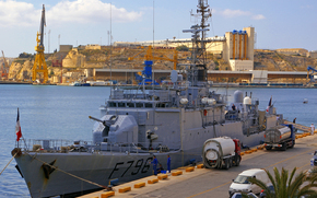 French Navy d-Estienne d-Orves-class, F796 fregata Comandante Birot in Grand Harbour, Malta
