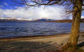 Vedute di Loch Lomond, Scozia, paesaggio